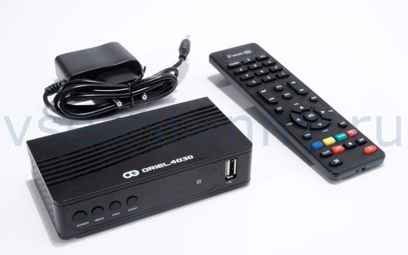 Цифровая ТВ приставка Oriel 403D