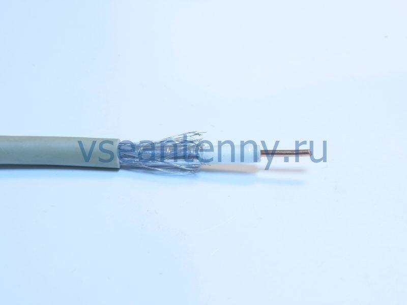Кабель RG-8X «Rexant» CCS/Al/A, 75 %, 50 Ом, Серый