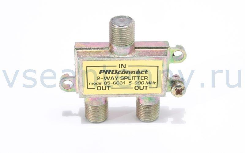РАСПРЕДЕЛИТЕЛЬ PROCONNECT (F-разъемы, 2 выхода, 5 – 900 МГц)