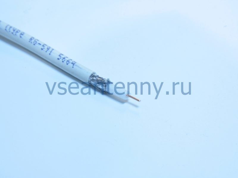 Кабель РК 75-3,7-322А (RG-59) «Кабельные технологии» Белый