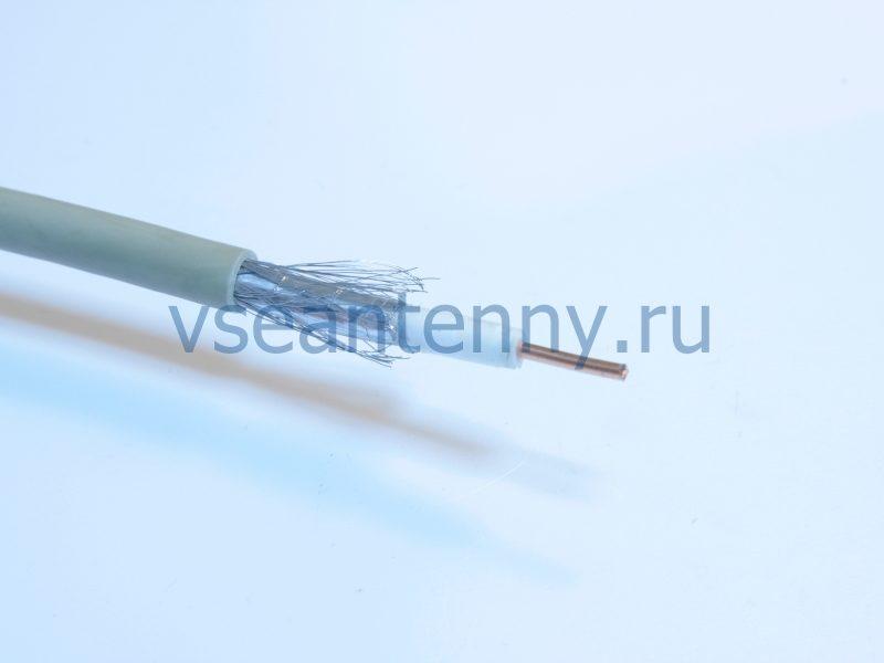 Кабель RG-58A «Rexant» Cu/Al/Cu, 64 %, 50 Ом, Черный