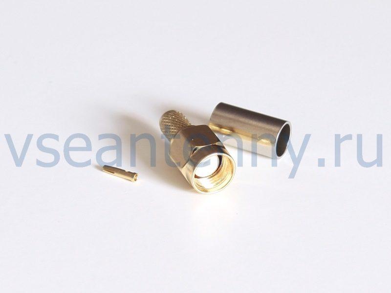 Разъем RP-SMA-C58P (Reverse Polarity), на кабель типа RG-58, под обжим