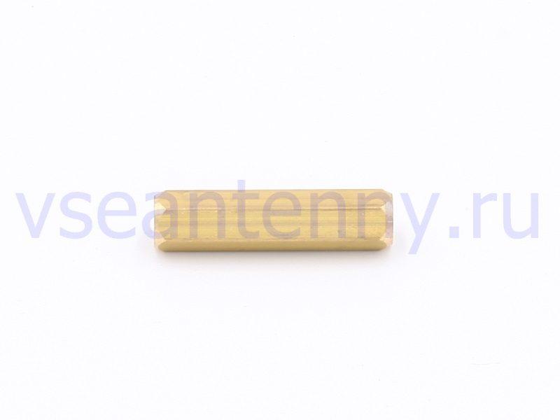 Втулка стойка латунная 30 мм внутренняя резьба М5