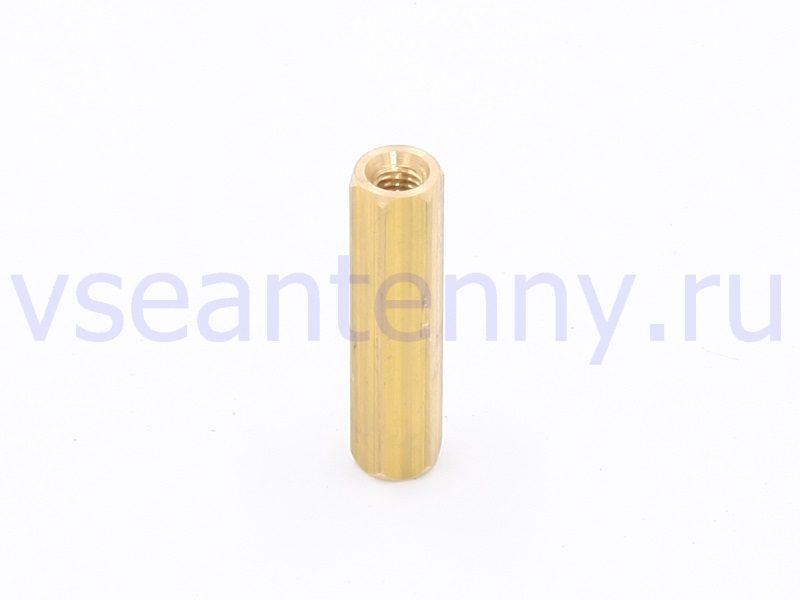 Втулка стойка латунная 30 мм внутренняя резьба М4