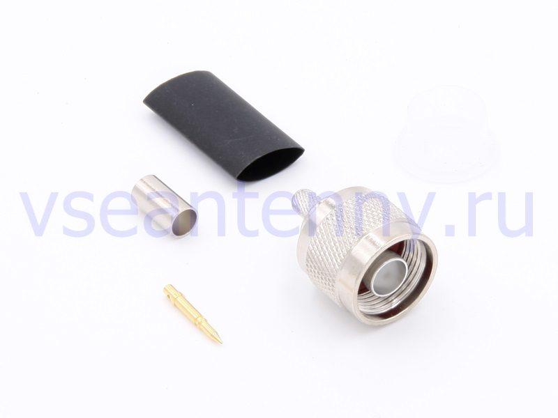 Разъем обжимной N-male на кабель типа RG-58